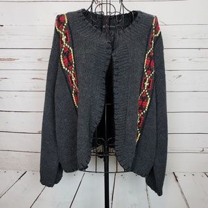 INC Int'l Concepts Wool Blend Embroidery Cardigan